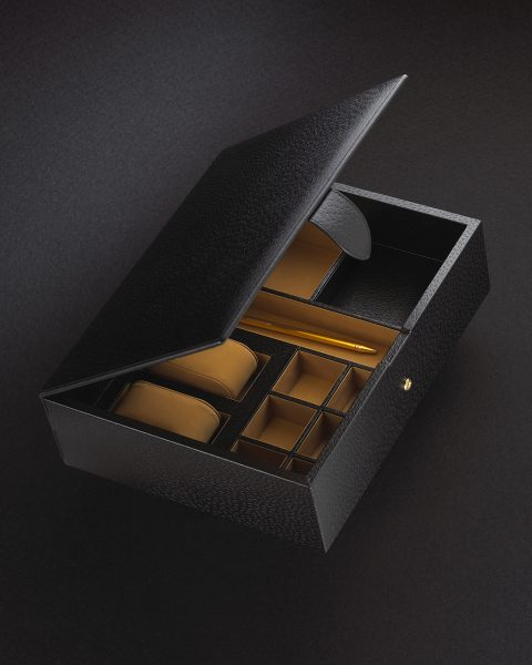 Smythson jewellery box photographed by Steve Wakeham